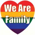 Rainbow We Are Family Temporary Tattoo Lesbian Gay Pride
