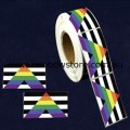 Straight Ally Plastic Coated Paper Adhesive Stickers Roll of 100 Gay Lesbian Pride