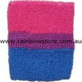 Bisexual Sweat Stretch Tennis Wrist Band Bi Sexual Pride