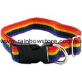 MEDIUM DOG Rainbow Adjustable Pet Collar Lesbian Gay Pride