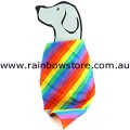Rainbow Bandana Pet Dog Cat Bandanna Lesbian Gay Pride