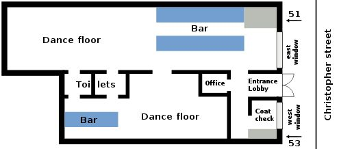 Stonewall Inn Layout 1969
