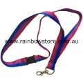 Bisexual Ribbon Long Lanyard Safety Release With Ring And Claw Clasp Bi Pride