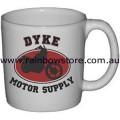 Dyke Motor Supply Ceramic Mug Gay Lesbian Pride