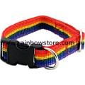 SMALL DOG Rainbow Adjustable Pet Collar Lesbian Gay Pride