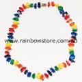 Rainbow Square Chips Necklace Lesbian Gay Pride