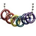 Medium Rainbow Rings With Ball Chain Necklace Lesbian Gay Pride