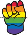 Rainbow Solidarity Sticker Adhesive Gay Lesbian Pride