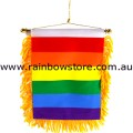 Rainbow Flag Mini Dangler Lesbian Gay Pride