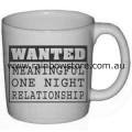Wanted Meaningful Relationship Ceramic Mug Gay Lesbian Pride
