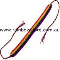 Rainbow Hand Woven Friendship Bracelet Lesbian Gay Pride