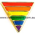 Rainbow Small Triangle Lapel Pin