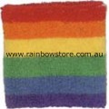 Rainbow Sweat Terry Towelling Stretch Tennis Wrist Band Gay Lesbian Pride
