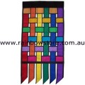 Rainbow Weave Banner Deluxe Polyester 2.3 feet x 4.5 feet Gay Lesbian Pride