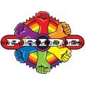 Rainbow Pride Power Target Adhesive Sticker Lesbian Gay Pride