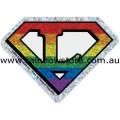 Super Lesbian Rainbow Diamond Holographic Adhesive Sticker Lesbian Pride