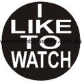 I Like To Watch Badge Button 3cm 1.1 inch Diameter Gay Lesbian Pride