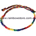 Rainbow Thin Silk Weave Friendship Bracelet Gay Lesbian Pride