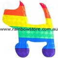 Rainbow Dog Sticker Holographic Adhesive Gay Lesbian Pride