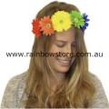Rainbow Large Daisy Headband Lesbian Gay Pride