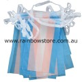 Transgender Flag Bunting 20 Medium Flags 14cm x 21cm Trans Pride