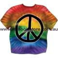 Tie Dye Peace Rainbow Sticker Adhesive Lesbian Gay Pride