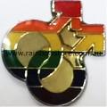 Rainbow Double Male Lapel Badge Pin Gay Pride