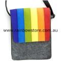 Rainbow Felt Wool Accessory Satchel Shoulder iPad Tablet Carry Bag Lesbian Gay Pride