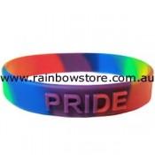 Rainbow Raised PRIDE Silicone Wrist Band