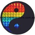 Rainbow Yin Yang Sticker Holographic Adhesive Lesbian Gay Pride