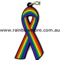 Rainbow Rubber Striped Key Chain Rainbow Gay Lesbian Pride