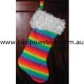 Rainbow Xmas Christmas Stocking Lesbian Gay Pride