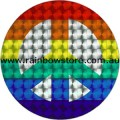 Rainbow Peace Sign Silver Centre Holographic Adhesive Sticker Gay Lesbian Pride