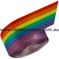 Rainbow Satin Ribbon Single Side 3.1cm by 10 metres Gay Lesbian Pride
