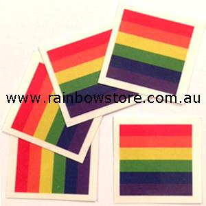 645fcb3f71289 Rainbow Flag Temporary Tattoo Pkt 5 Gay Lesbian Pride - Rainbow Store