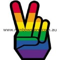 Rainbow Peace And Victory Lapel Badge Pin Gay Lesbian Pride