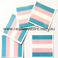 Transgender Flag Temporary Tattoo Pkt 5 Trans Pride